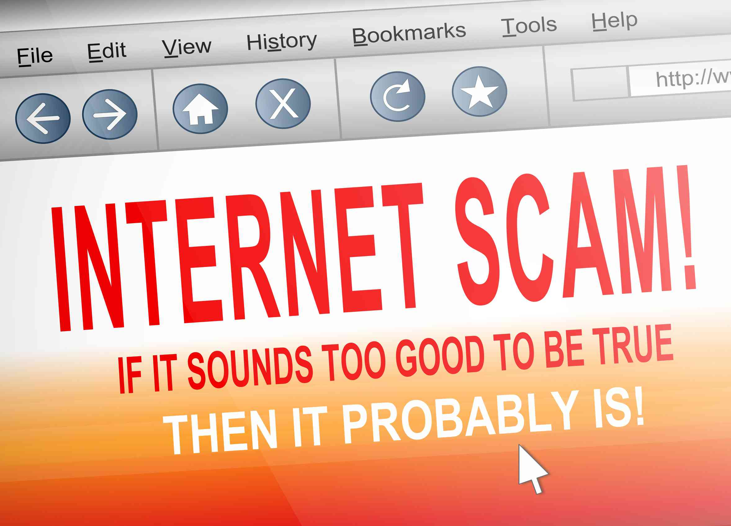 internet scams Internet fraud a crime in which the perpetrator develops a scheme using one or more elements of the internet to deprive a person of property or any interest, estate, or right by a false representation of a matter of fact, whether by providing misleading information or by concealment of information.