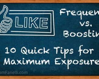 Frequency vs Boosting Posts on Facebook