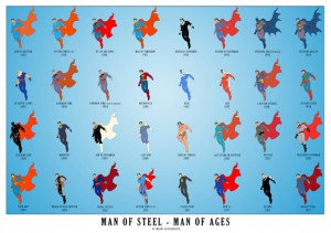 """This infographic was created around the release of the movie """"Man of Steel""""."""
