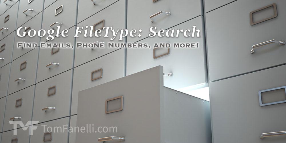 Google Filetype Search