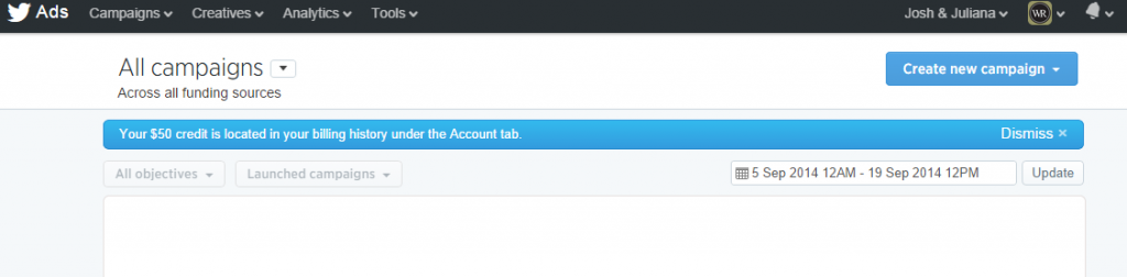 Twitter Tailored Audience Step 1