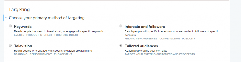 Twitter Tailored Audience Step 5