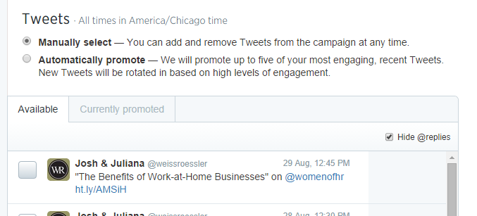 Twitter Tailored Audience Step 8