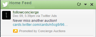 Example of Promoted Tweets: HootSuite