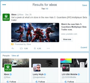 Example of Promoted Tweets: Search Results