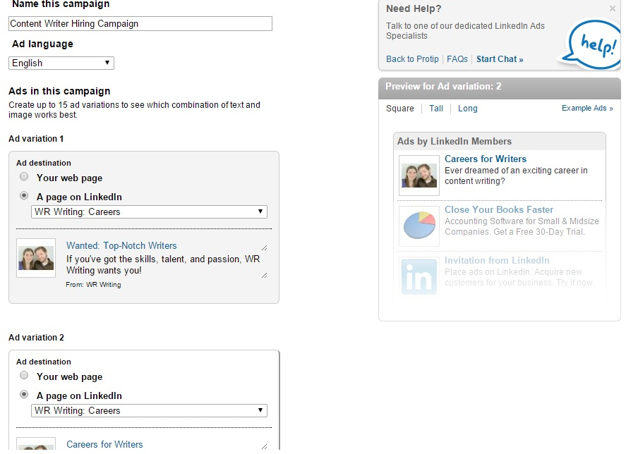 LinkedIn Creative